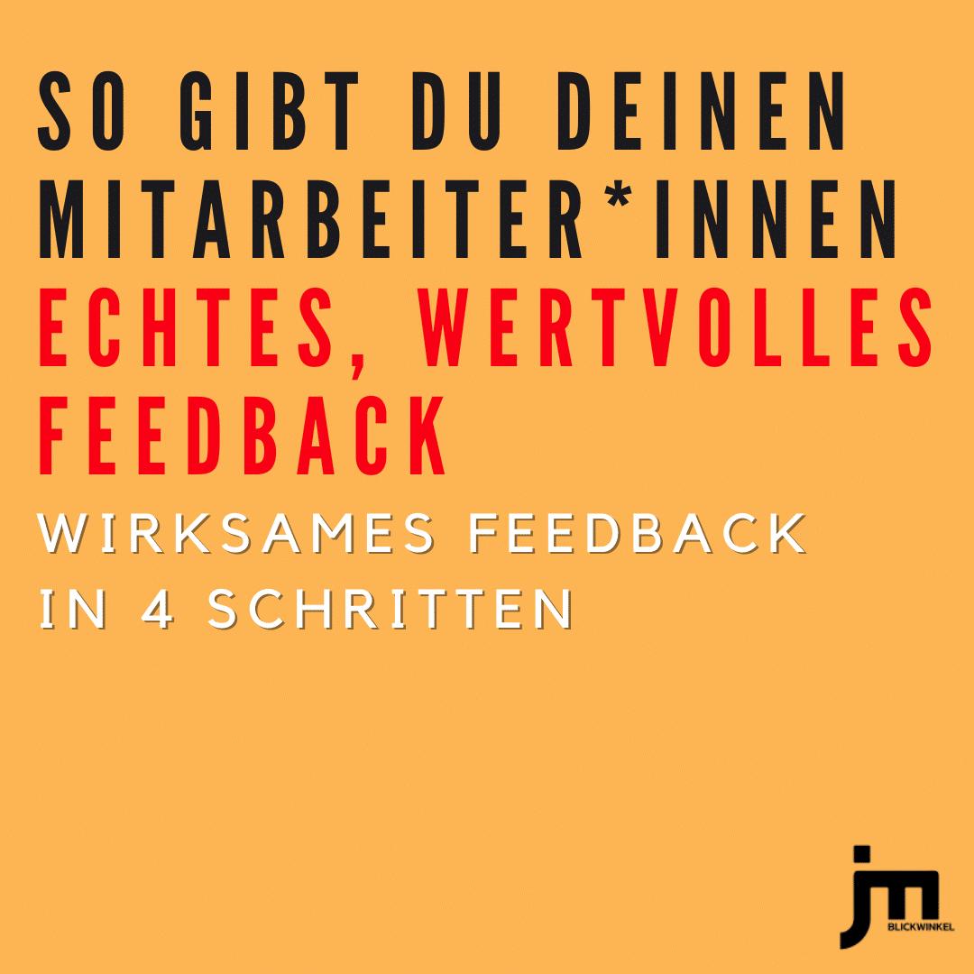 JM Blickwinkel Instagram Beitrag So gibst du deinen Mitarbeiter*innen echtes, wertvolles Feedback
